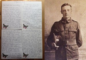 To My Great, Great Uncle Aubrey, killed in The Great War.